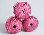 Pink Yarn Novelty Yarn SINSATION Craft Supplies Plymouth Yarn Chenille Bulky Weight Knitting Yarn Pink Destash