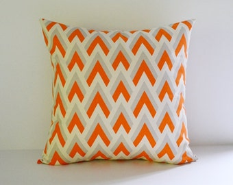 Orange Pillow Cover Decorative Pillow Accent Pillow Cushion Cover Choose from 8 Sizes