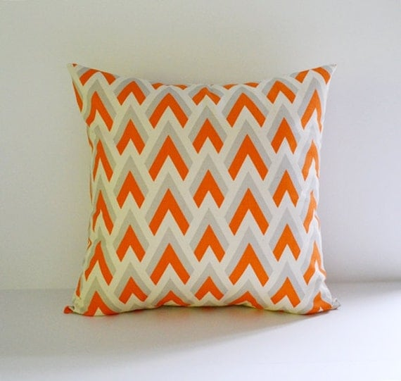 22x22 Decorative Pillows : 22x22 Pillow Cover Decorative Pillows Orange by BlossomPillowCo