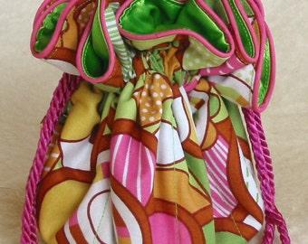 Crazy Daisy Flowers Jewelry Bag Pouch