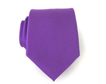 Mens Ties Necktie Purple Silk Mens Tie