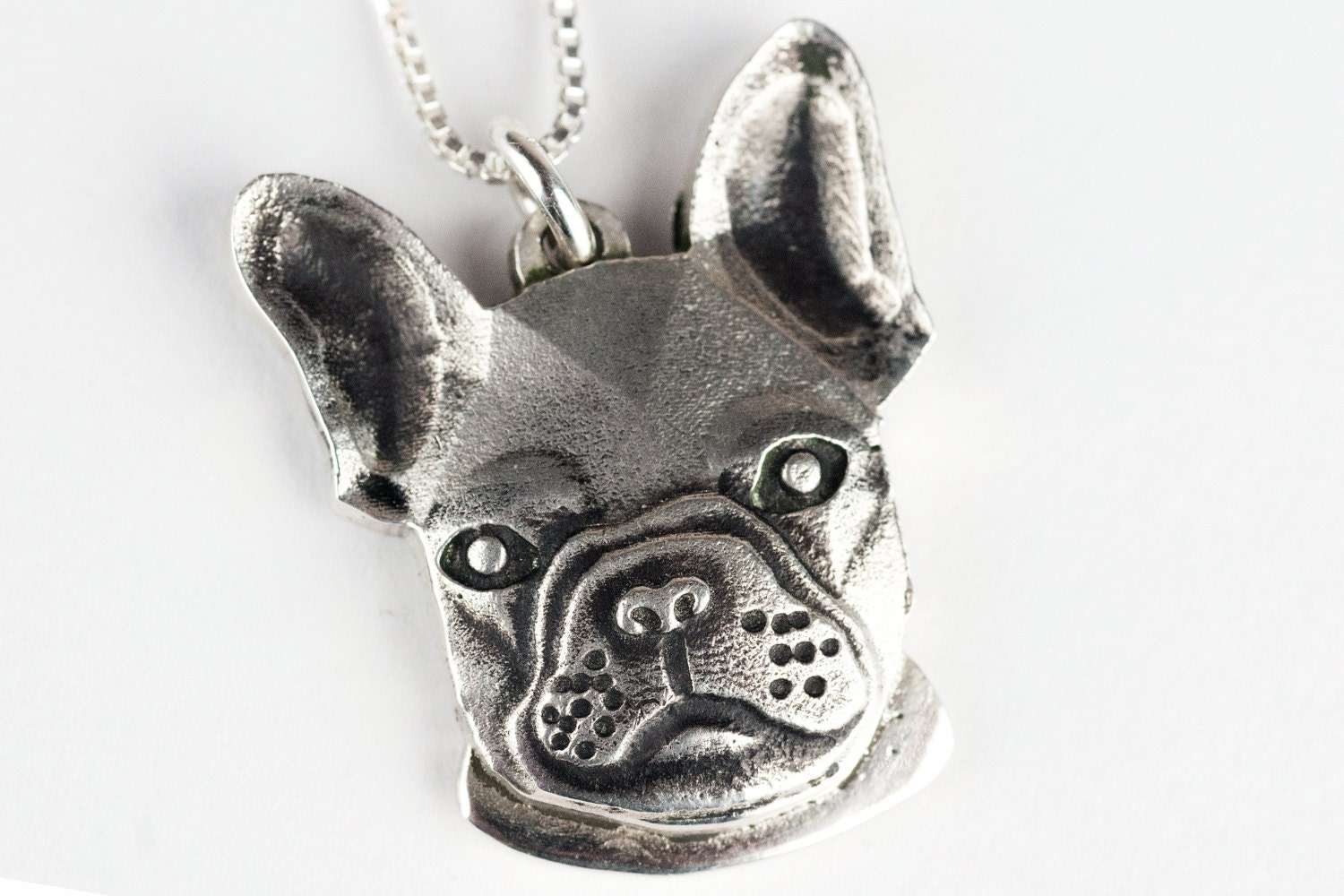 bulldog necklace jewelry sterling silver frenchie