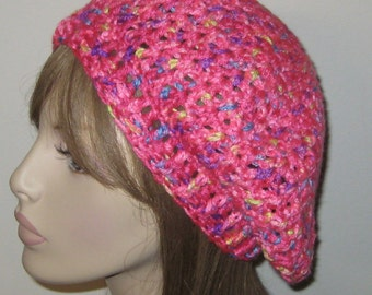 Pink Slouchy Beret Tam