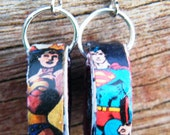 Wonder Woman & Superman Upcycled Earrings