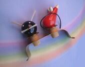 Vintage 50s Cat N Mouse Corks Barware MCM