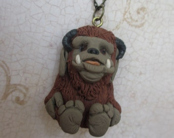 Ludo - Labyrinth inspired character sculpture pendant