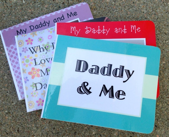 Daddy and Me - Custom Board Book - Custom Photo Board Book - Father's Day - Photo Album - Personalized Book - Gift From Kids - Family Album