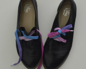 Blue Purple Pink Shoe Laces- Small