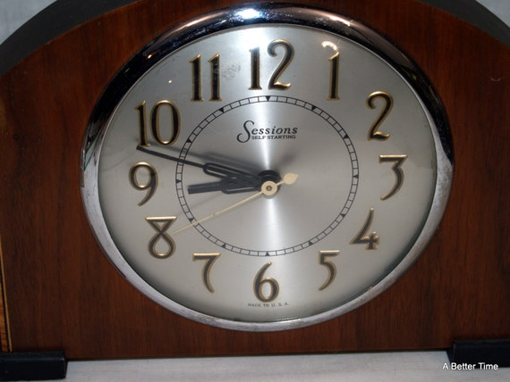 Sessions Self Starting Mantel Clock Electric By Abettertime