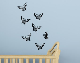 Butterflies Vinyl Wall Decal Decor Set, Master Bedroom Bathroom Living Room Guest , Nursery Room Wall Decorations