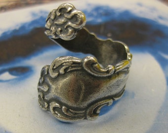 Sterling Silver Ox Plated Brass Spoon Rings 904SOX x1