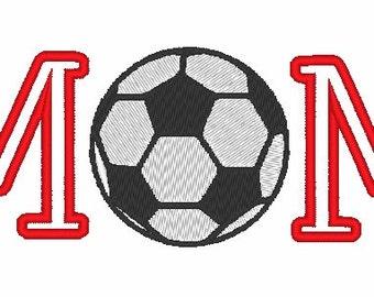 Soccer Mom Appliqué Machine Embroidery Design