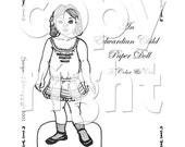 Edwardian Child Paper Doll to print, color and cut