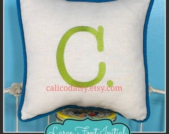 LARGE FONT - Initial It Letter Pillow Cover - Initial It - 12 x 12 square