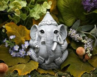 Ganesha Statue - Concrete Garden Art - Outdoor Ganesh is 5x5x5