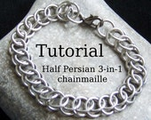 Chainmaille tutorial - Half Persian 3 in 1 chainmaille bracelet