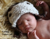 Aviator Bomber Ear Flap Baby Hat Knitting Pattern PDF 305 for Hand Spun Yarn, INSTANT DOWNLOAD -- Over 16,000 patterns sold