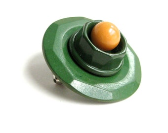 Brooch Pin Green Bay Packers Vintage Button Abstract