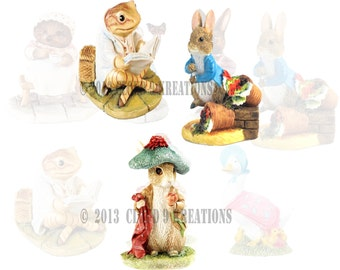 Beatrix Potter Characters Digital Collage Sheet 2