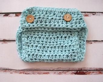 Crochet Diaper Cover, Baby Diaper Cover, Baby Soaker, Newborn Diaper Cover, Infant Diaper Cover, Baby Boy Diaper Cover, Photo Prop, Blue