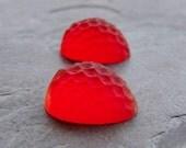 Vintage Glass Cabochon-Strawberry Cabochon-Berries-Rare Glass Cabochon-Strawberries-High Domed-West German-2
