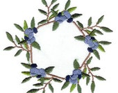 BLUEBERRY TEA. For the 4x4 hoop Prim/folk art Machine Embroidery Designs
