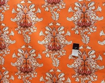 Tina Givens SATG003 Lilliput Fields Vintage Orange Cotton HOME DECOR 1 Yard