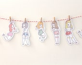 Cute Butt Club Garland - Printable DIY papercraft project