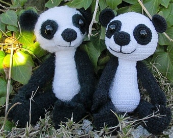 amigurumi crochet pdf pattern tutorial paddy panda baer by Katja Heinlein