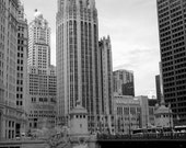Tribune Tower - 8x12 Fine Art Infrared Photograph