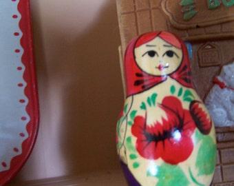 sweet little wooden doll figurine
