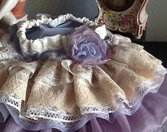 Wedding flower girl .birthday  Vintage lace toddler lavender The Rebecca ruffled skirt by Rosanna Hope for Babybonbons