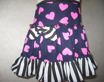 Pink,white,black,Blue hearts,stripes Frilly Festival Mini Skirt-All sizes,punk,sequoia