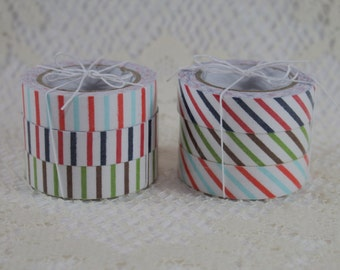 CLEARANCE - Decorative Fabric Adhesive Tape - Set of 3