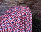 SALE  Womens long gathered skirt--cruise wear, fourth of July  was 49.00