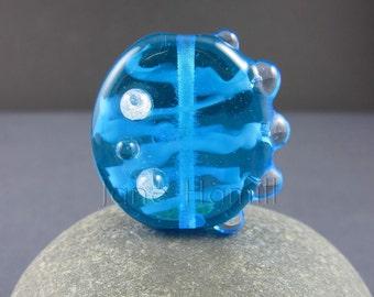 "Lampwork bead, ""Diatom II"" art glass pendant or focal, FHFteam Y3, gbuk, SRA"