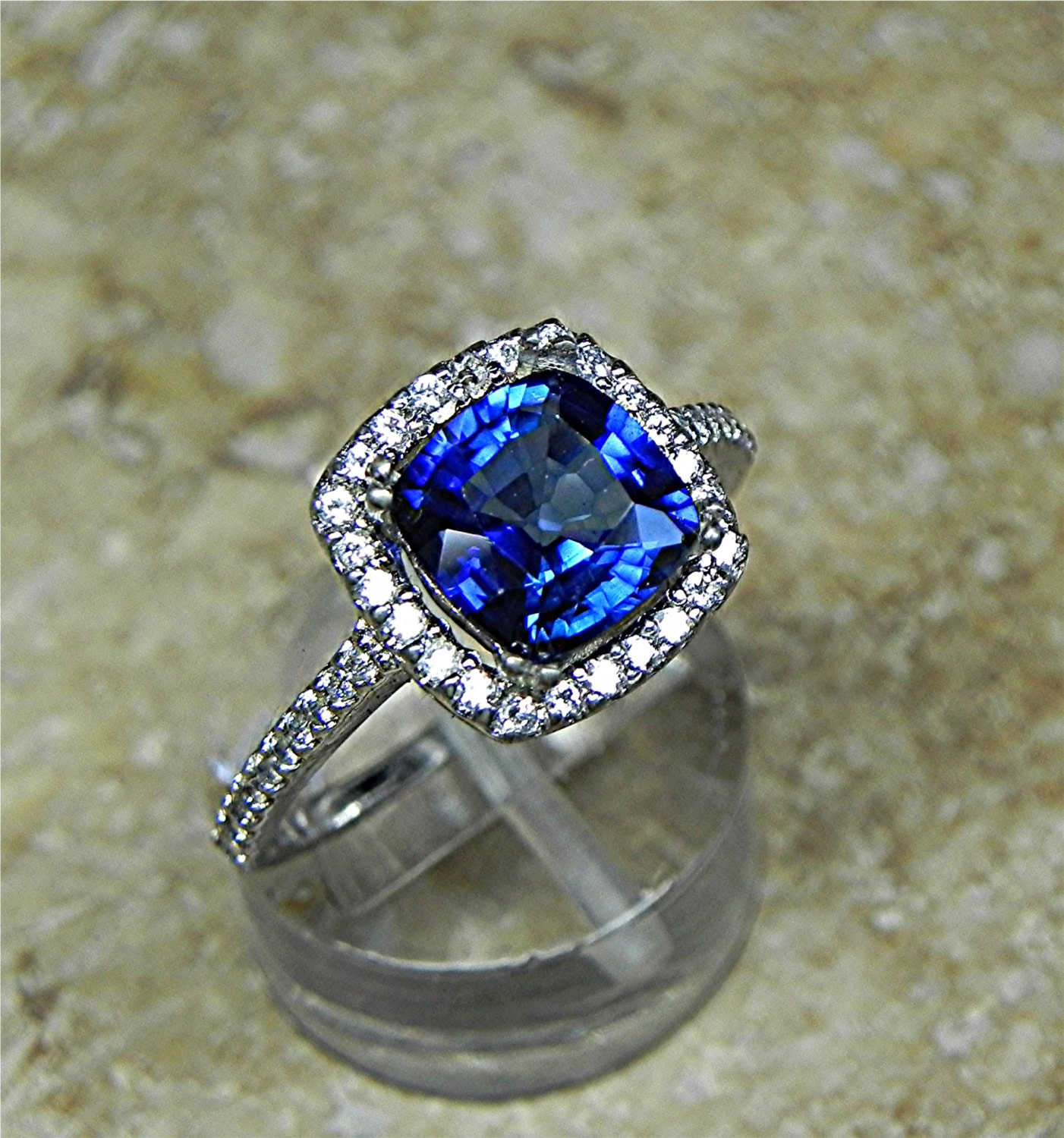 Sapphire As Engagement Ring Il Fullxfull Jv