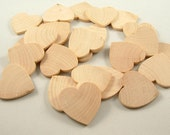 200 Wood Hearts, Shapes - 1 1/2 inch x 1/8 inch - Wedding Guest Book, Wedding Favors - Wooden Hearts for DIY