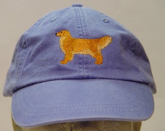 GOLDEN RETRIEVER DOG Hat - One Embroidered Men Women Cap - Price Embroidery Apparel - 24 Color Caps Available