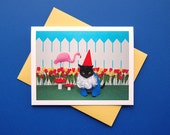 AC is a Garden Gnome Greeting Card