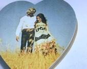 Vintage box heart shaped candy box seventies boho couple