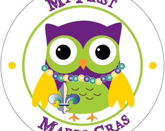 My First Mardi Gras - Holiday Baby Waterproof Glossy Sticker - H02-0401