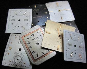 Vintage Antique Watch Dials Steampunk  Faces Parts  F 42