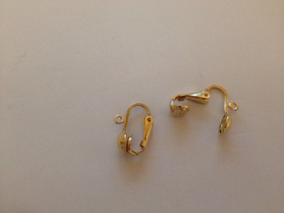 Gold Plated Earclip With Half Bead And Ring Jewelry