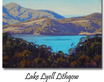 LAKE PAINTING Landscape painting Contemporary art by Graham Gercken