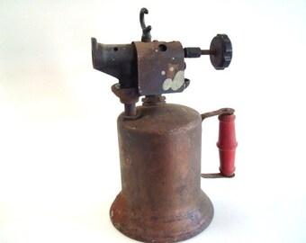 Red Wood Handle Vintage  Industrial Sprayer