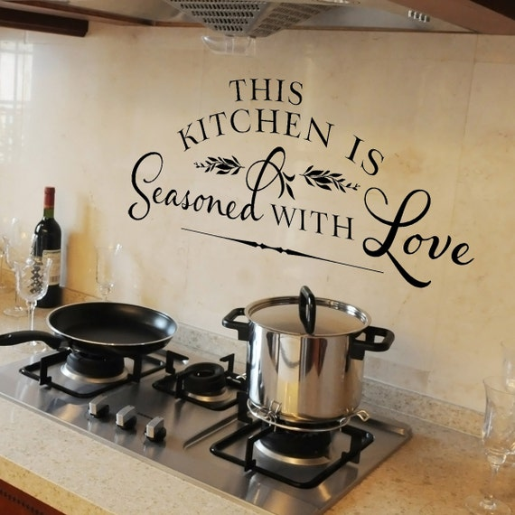 Kitchen Wall Stickers: This Kitchen Is Seasoned With Love Vinyl By