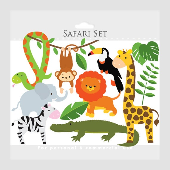 Clip Art Safari Clip Art safari clipart etsy animals lion monkey giraffe zebra elephant crocodile leaves jungle snake toucan