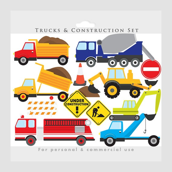 Trucks clipart construction clip art by WinchesterLambourne
