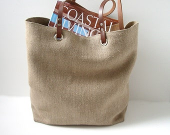 Woven Jute Tote Bag, Casual Beach Bag
